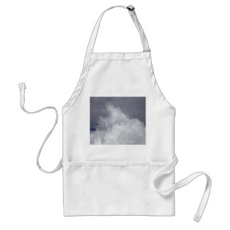 Breaking waves adult apron