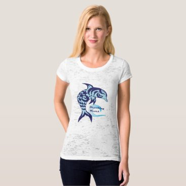 Beach Themed Breaking Waves Baby Dolphin Tee