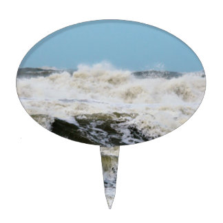 Breaking waves. cake toppers