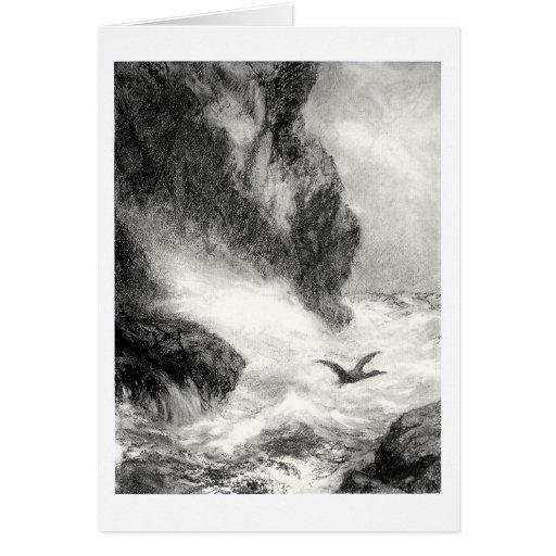 Breaking waves card