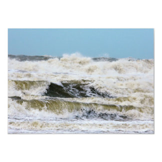 Breaking waves. 4.5x6.25 paper invitation card