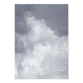 Breaking waves 5x7 paper invitation card