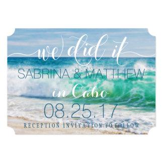 Breaking Waves Ocean We Did It Wedding Card