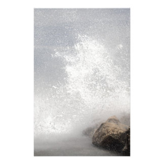 Breaking waves on rocks on the Adriatic Sea. Stationery