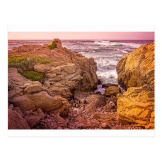 Breaking Waves Sunset Postcard