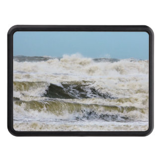 Breaking waves. trailer hitch cover