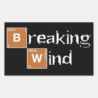 Breaking Wind A Rectangular Sticker