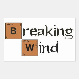 Breaking Wind B Rectangular Sticker