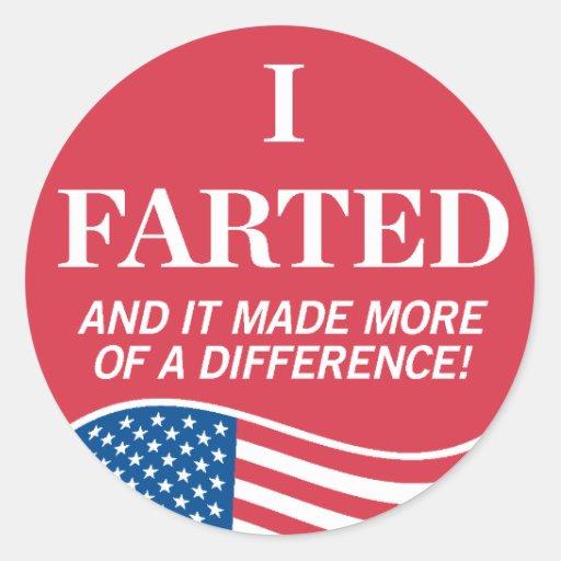 Breaking Wind Over Voting Sticker