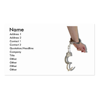 BreakingHandcuffs073110, Name, Address 1, Addre... Double-Sided Standard Business Cards (Pack Of 100)