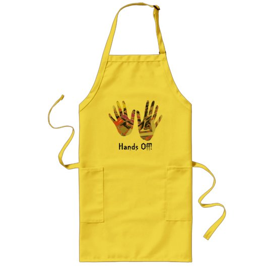 Breakout - Hands Off from Digital Abstract Long Apron