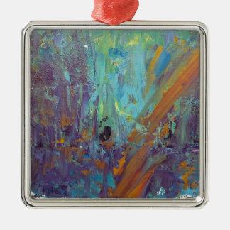 Breakthrough Silver-Colored Square Ornament