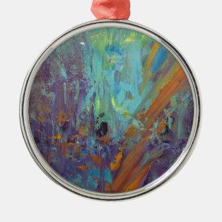 Breakthrough Silver-Colored Round Ornament