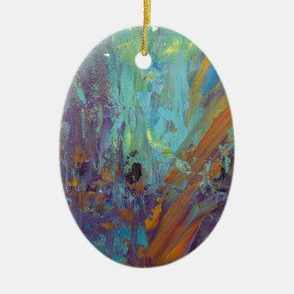 Breakthrough Ceramic Oval Ornament
