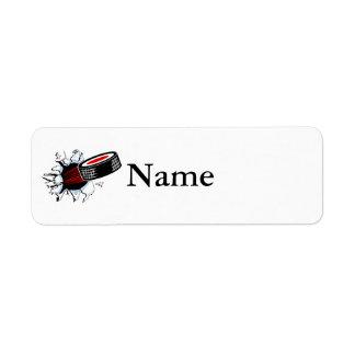 Breakthru Hockey Puck Custom Return Address Label