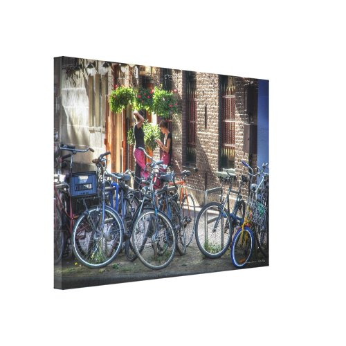 Breaktime in Amsterdam Gallery Wrapped Canvas