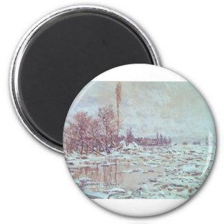 Breakup of Ice Grey Weather 1880 Magnet