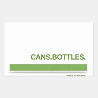 Breakup Recycling Slogan Rectangular Sticker