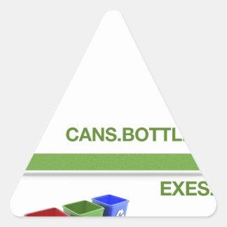 Breakup Recycling Slogan Triangle Sticker