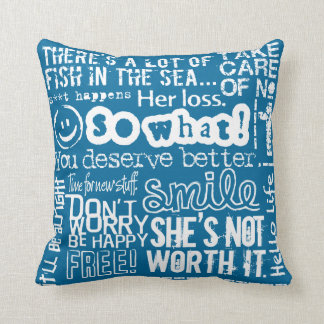 Breakup With a Girl American MoJo Pillow Blue