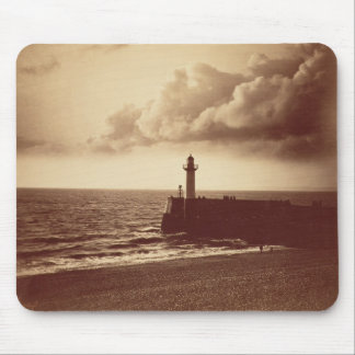 Breakwater at Sete, c.1855 (albumen print from a c Mouse Pad