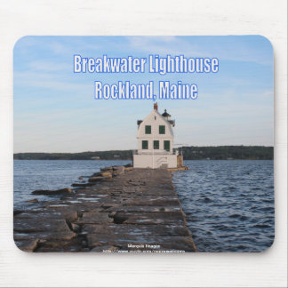 Breakwater Lighthouse Mouse Pad