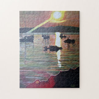 Breakwater sunset photo puzzle
