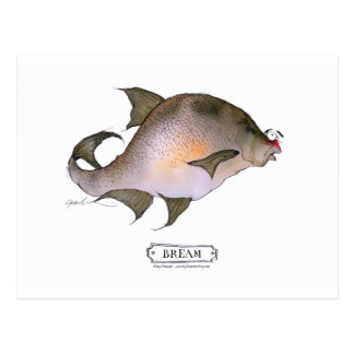 Bream fish, tony fernandes postcard