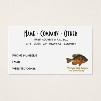 Bream Fisherman Business Card
