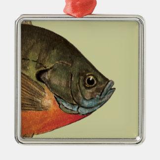 Bream Fishing Metal Ornament