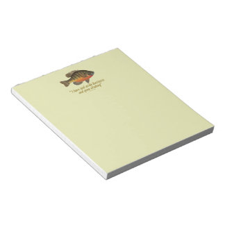 Bream Fishing Notepad