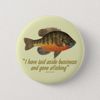 Bream Fishing Pinback Button