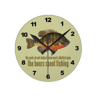 Bream Fishing Round Clock