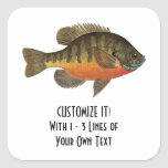 Bream Fishing Square Sticker