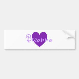 Breanna en púrpura pegatina para auto