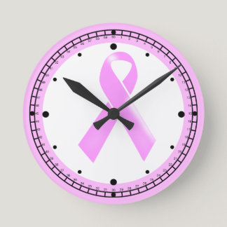 Breast awareness cancer round | Personalize Round Clock