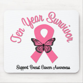 Breast Cancer 10 Year Survivor Mouse Pad