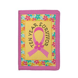 Breast Cancer 10 Year Survivor Ribbon Gift wallet