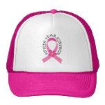 Breast Cancer 15 Year Survivor Pink Ribbon Gift Trucker Hat