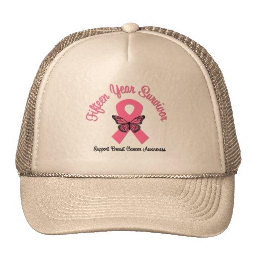 Breast Cancer 15 Year Survivor Trucker Hat