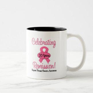 Breast Cancer 20 Year Remission Two-Tone Coffee Mug