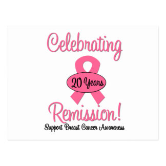 Breast Cancer 20 Year Remission Postcard
