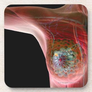 Breast cancer 2 coaster