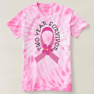 Breast Cancer 2 Year Survivor Tie Dye Tshirt