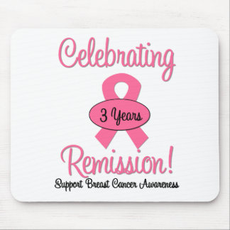 Breast Cancer 3 Year Remission Mouse Pad