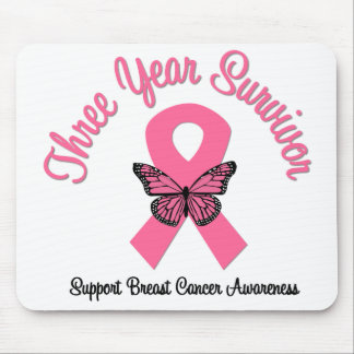 Breast Cancer 3 Year Survivor Mouse Pad