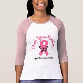Breast Cancer 3 Year Survivor T Shirt