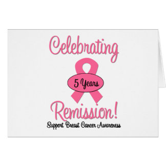 Breast Cancer 5 Year Remission Greeting Card