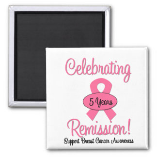 Breast Cancer 5 Year Remission Refrigerator Magnets