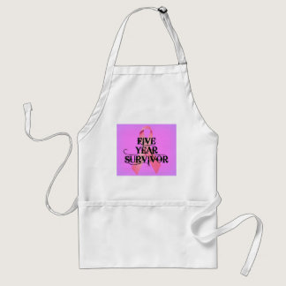Breast Cancer 5 Year Survivor Adult Apron